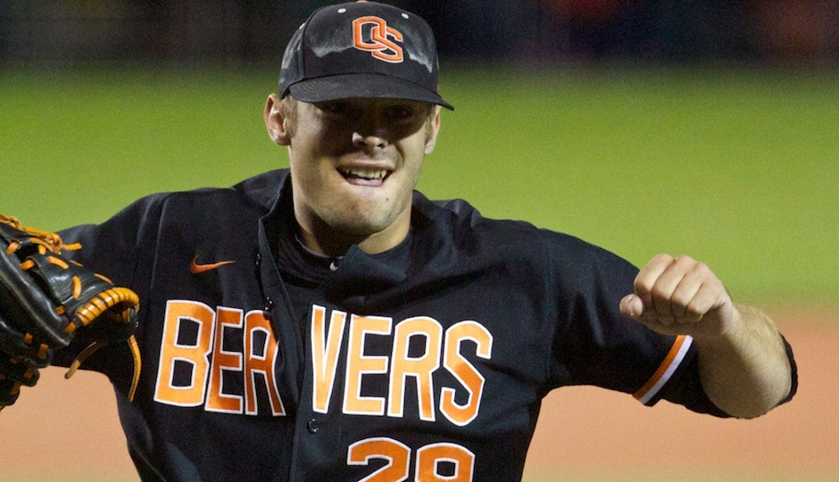 Oregon State Beavers pitcher Ben Wetzler. Photo |  Jaime Valdez, USA TODAY Sports