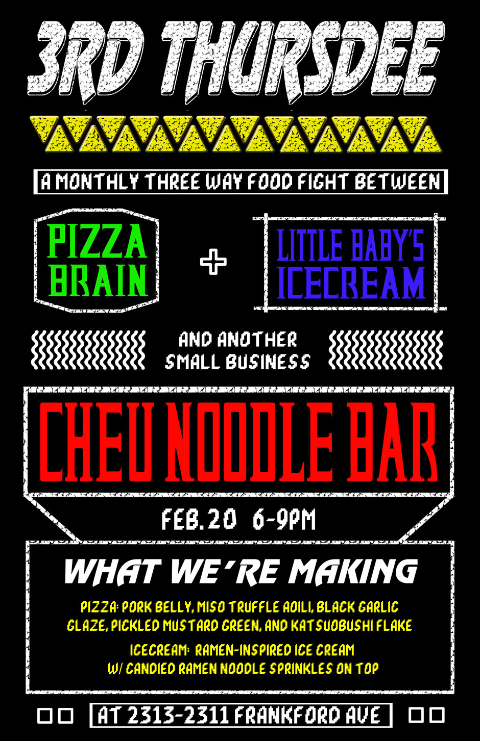 cheu-pizza-brain-little-babys-collaboration-flyer