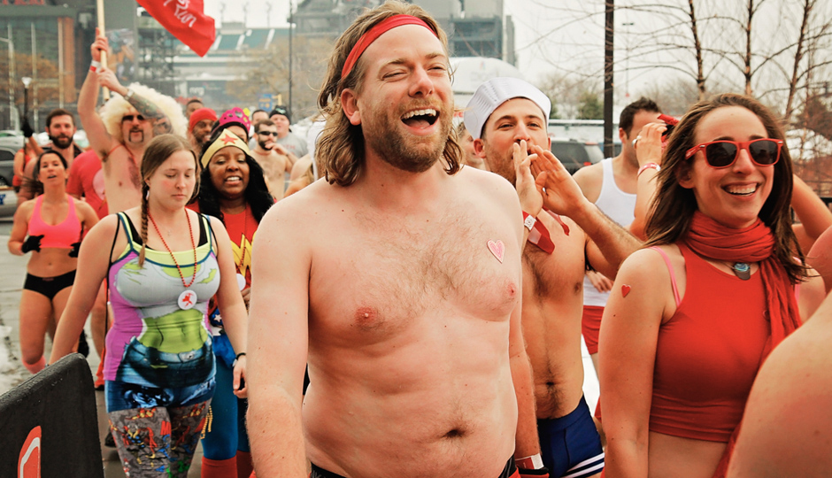 The author, Dan McQuade, is all smiles at Cupid's Undie Run. Photograph by Eddy Rhenals-Nava