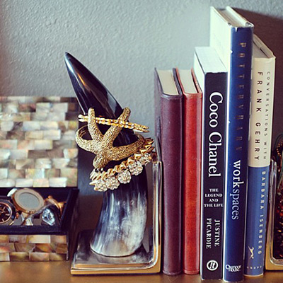 Keep display-worthy pieces out by incorporating them into your decor.