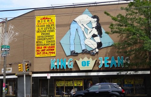 king of jeans sign