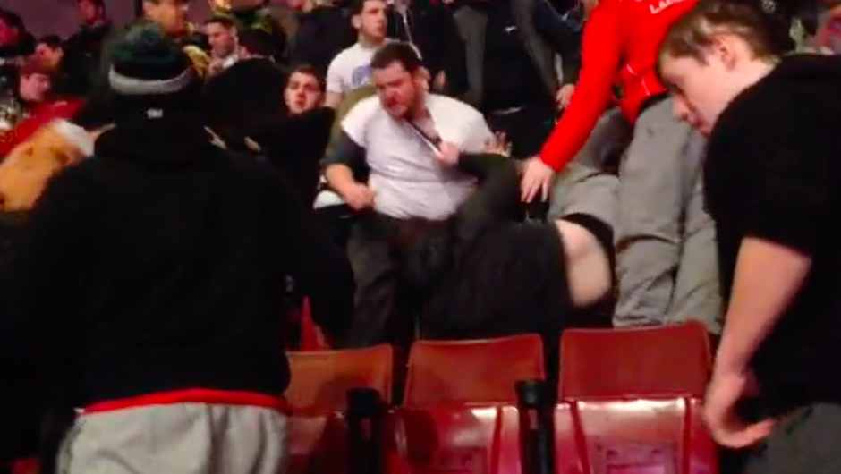 massive fight at wing bowl 22 Philadelphia
