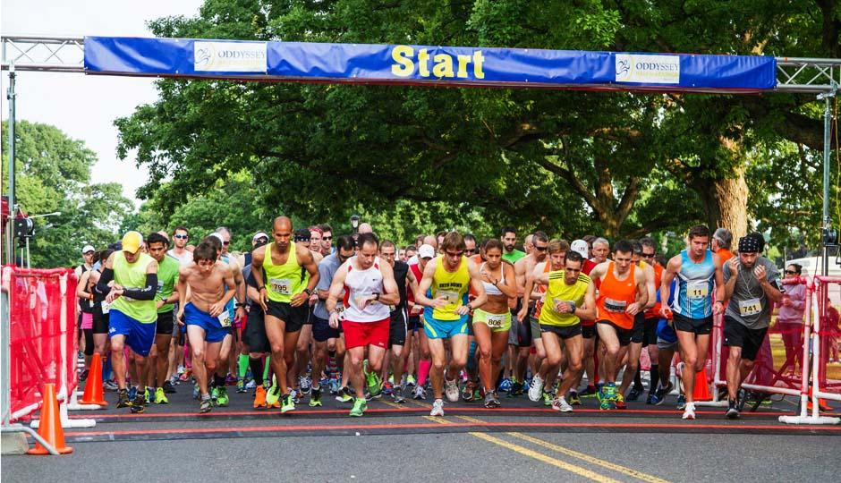 The starting line of the ODDyssey Half Marathon // Photo via Facebook