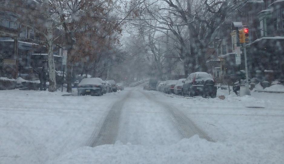 unplowed street
