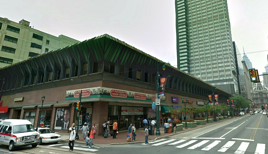 11th and Market, facing west.  Photo credit: Google Street View.