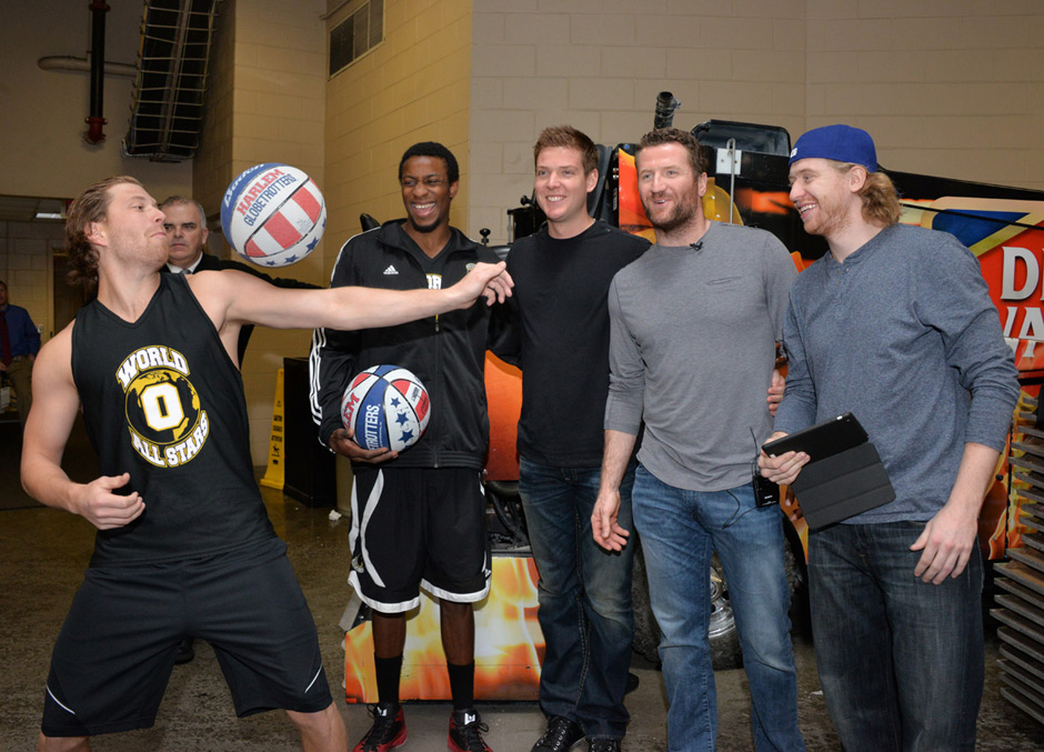 From left: Claude Giroux, Wayne Simmonds, Steve Mason, Scott Hartnell and Jakub Voracek. Photo | HughE Dillon