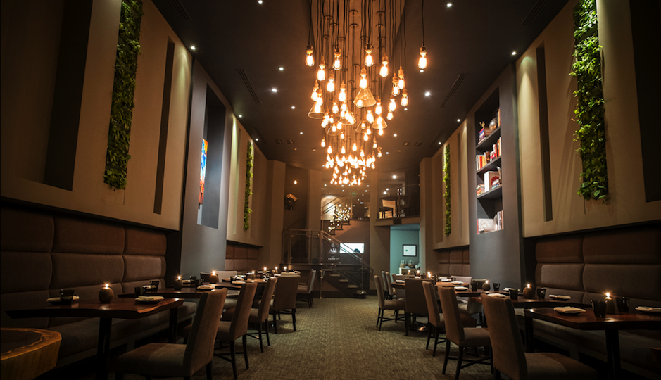 The main dining room at Avance.