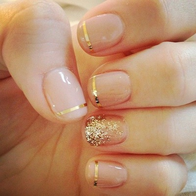 Just one of the many bridal manicures we've in love with right now.