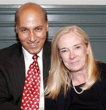 Matthew Wolfe and his wife, Denise Furey.