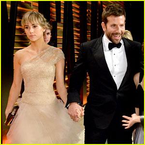 Bradley Cooper and his Oscars 2014 date, supermodel Suki Waterhouse.