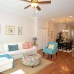 Living space of 153 Kalos Street.
