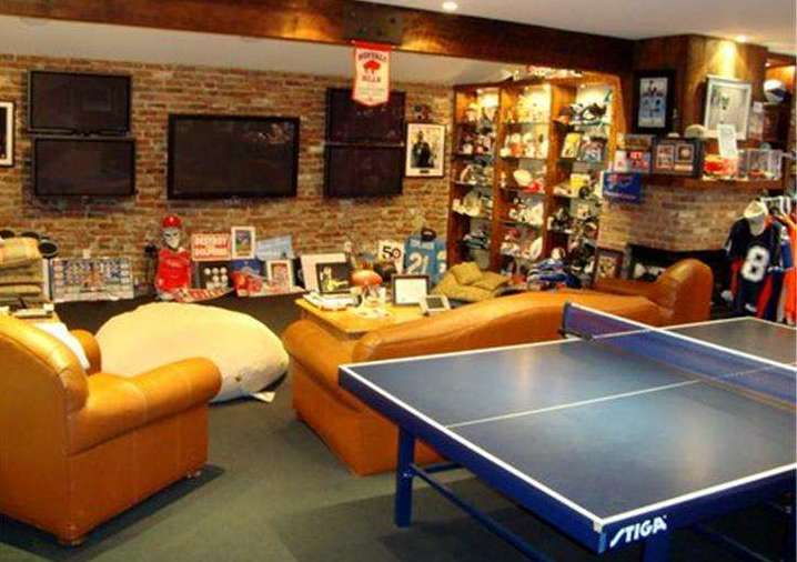 Man Cave Gay Bar : Million haverford estate with giant sports bar man cave