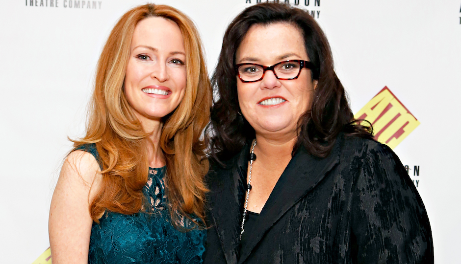 Rosie and wife Michelle Rounds.