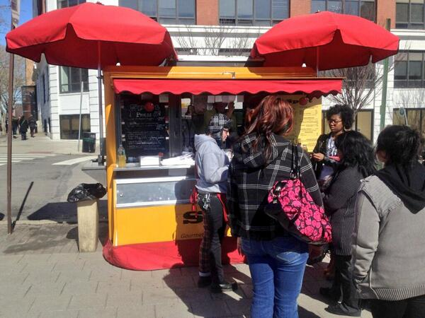 Spot Burgers can often found at 33rd and Arch Streets on Drexel's campus.
