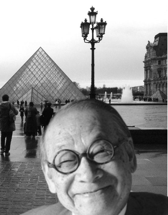 I.M. Pei, who designed the Society Hill Towers, with his Louvre Pyramid in 1981. Image via ArchDaily.