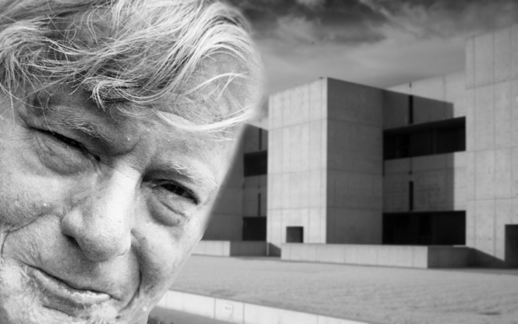 Philadelphia native Louis Kahn at the Salk Institute. Image via ArchDaily.