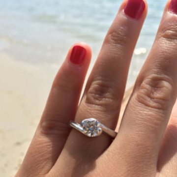 Samantha's one-of-a-kind ring.