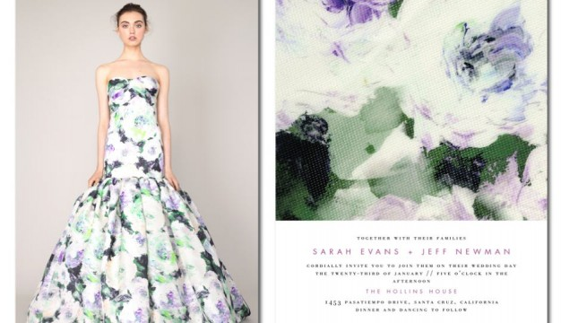 "The ""Breathtaking Blossoms"" from Wedding Paper Divas Marchesa-inspired collection. (Business Wire)"