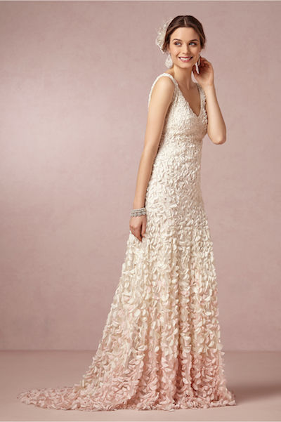 Try on BHLDN's Emma gown at the pop-up shop and trunk show at Anthroplogie next week!