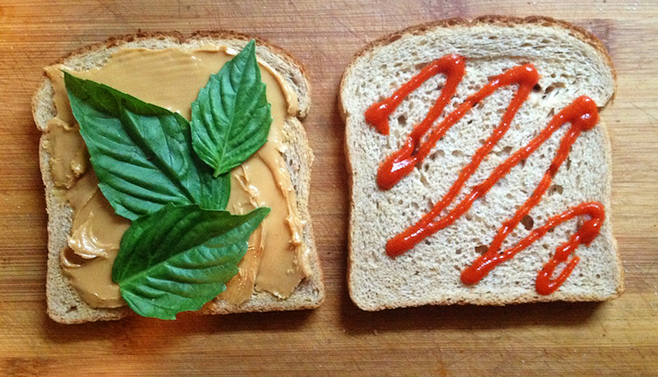 Peanut butter and sriracha