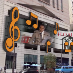 A rendering of a digital display on South Broad Street