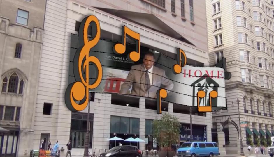 A rendering of a digital display on South Broad Street