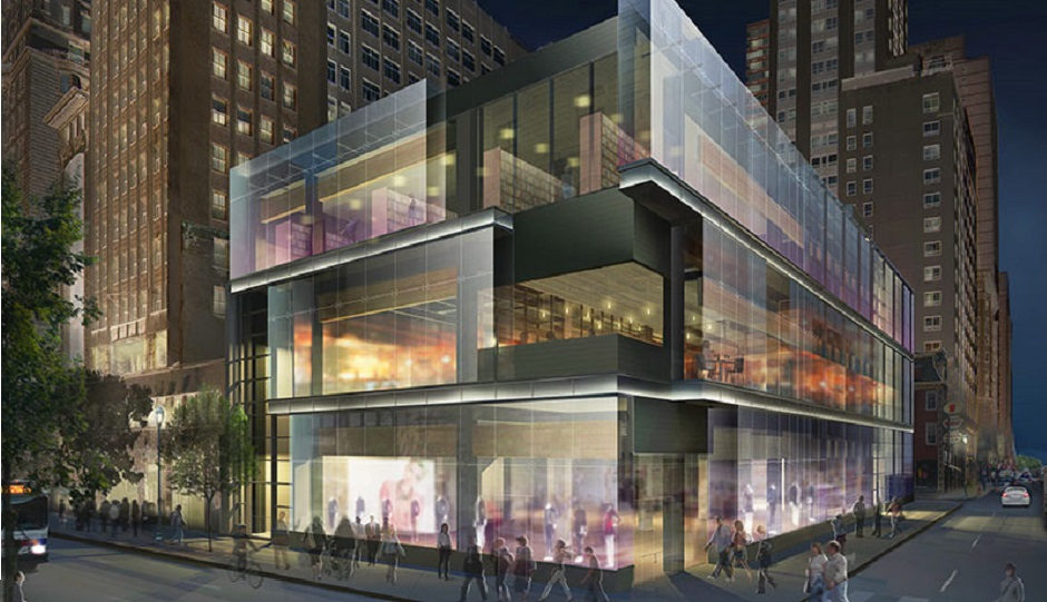 Rendering of the planned building for 15th and Walnut