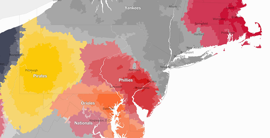Cool New Map Shows Where Phillies Fans Live By Zip Code