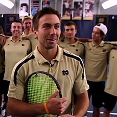 SPORTS: Notre Dame releases inspiring video about out tennis player Matt Dooley and his teammates.