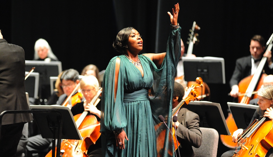 "Michelle Johnson singing ""Oberto."""