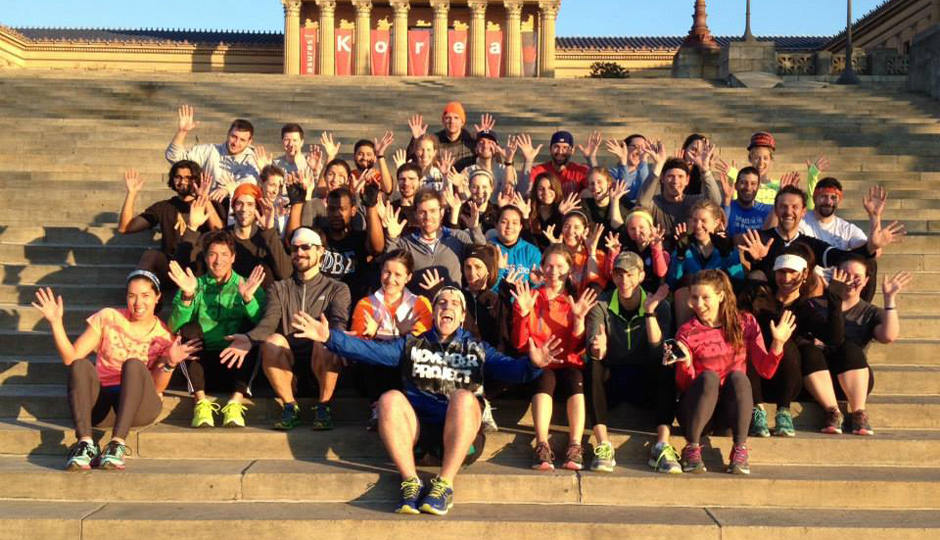 Join the November Project crew for free workouts at the Art Museum every Wednesday // Photo via Facebook