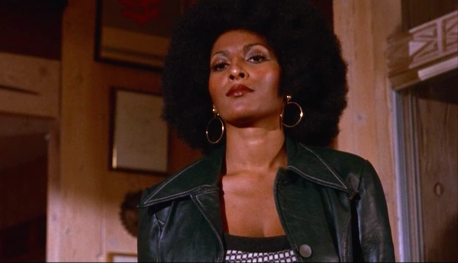Pam Grier in the 1970s in her iconic role as Foxy Brown.