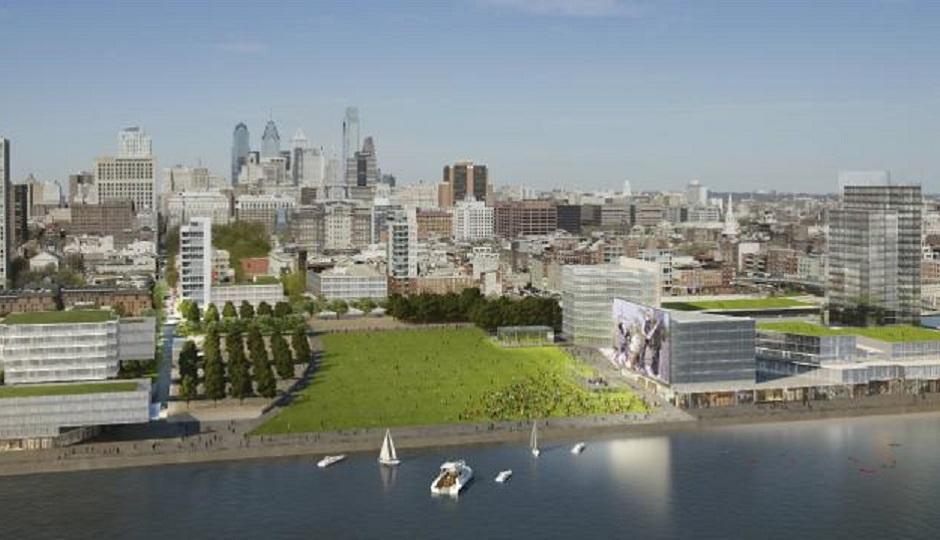 Penn's Landing Master Plan rendering via PlanPhilly.