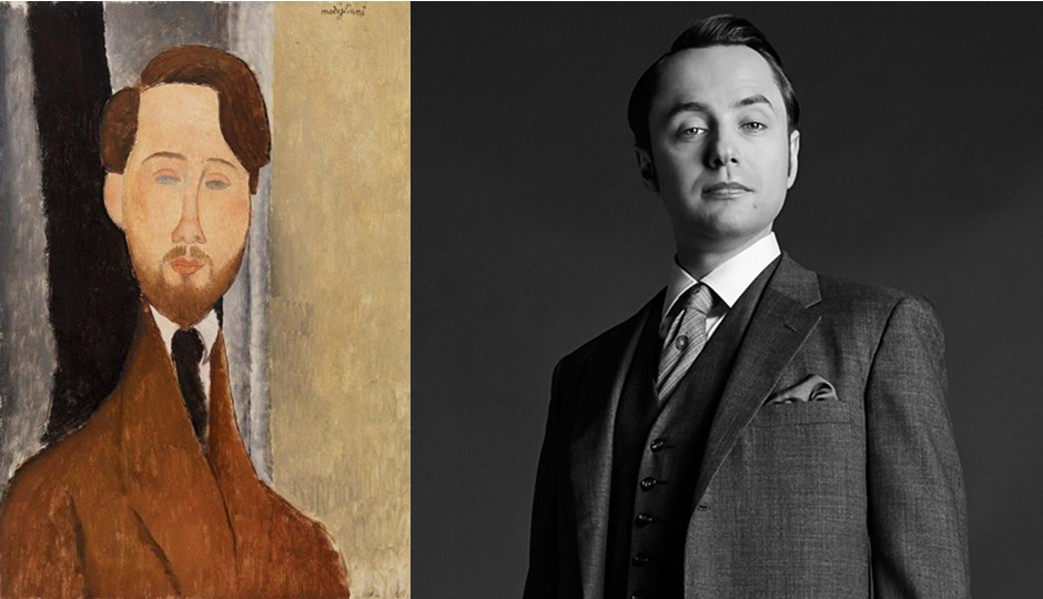 """Léopold Zborowski,"" painted by Modigliani in 1919, totally looks like ... Pete Campbell from Mad Men, if he had a beard. ""Pete, Pete, Pete...what are we going to do with you, buddy?"" - everyone who watches Mad Men to their TVs, every week."