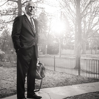 Pileggi outside his home in Chester. Photography by Colin Lenton