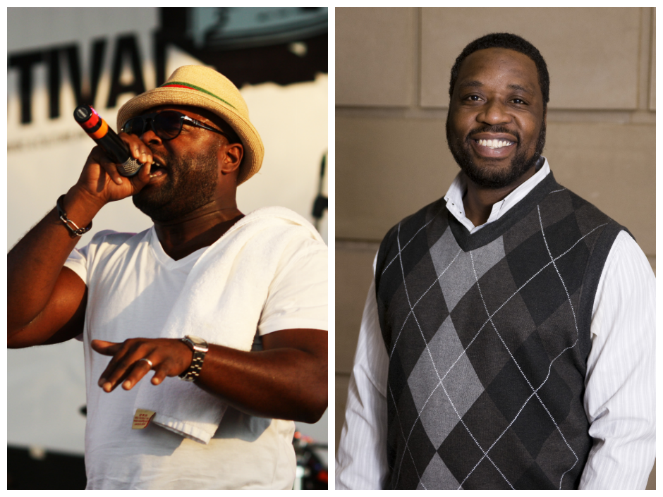 The Roots MC Black Thought (left) to team with Mural Arts on a new project honoring the life of Dr. Shawn White (right).