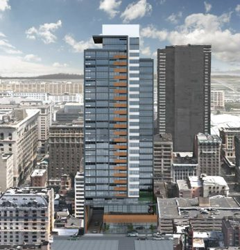 A new rendering of the proposed tower at 1213 Walnut St