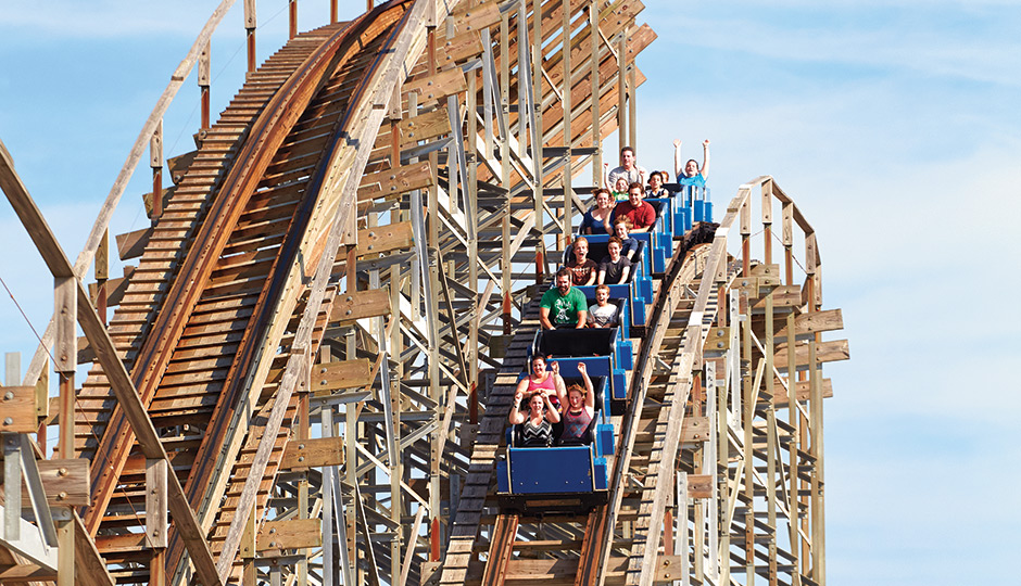 The Great White coaster in Wildwood. Photography by Trevor Dixon