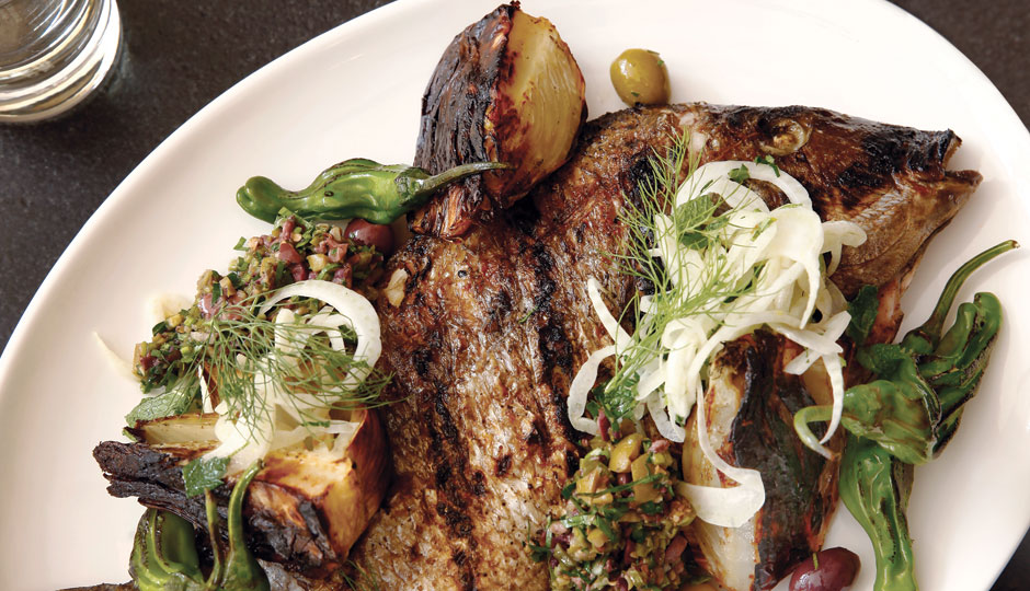 Whole grilled sea bream | Photo by Jason Varney
