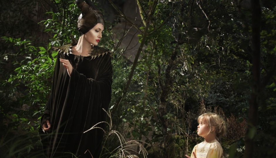 "Angelina Jolie and her daughter, Vivienne Jolie-Pitt, in ""Maleficent."""
