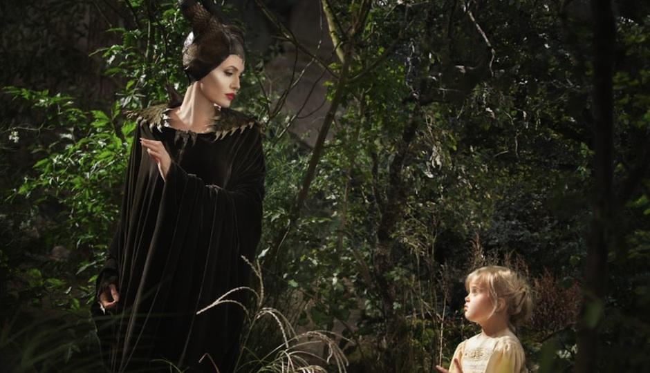 "Angelina Jolie and her daughter, Vivienne Jolie-Pitt, in ""Maleficent."""