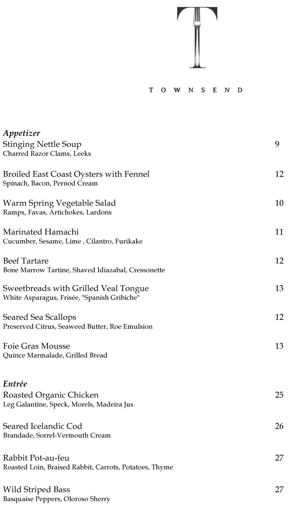 Townsend-Opening-Dinner-Menu