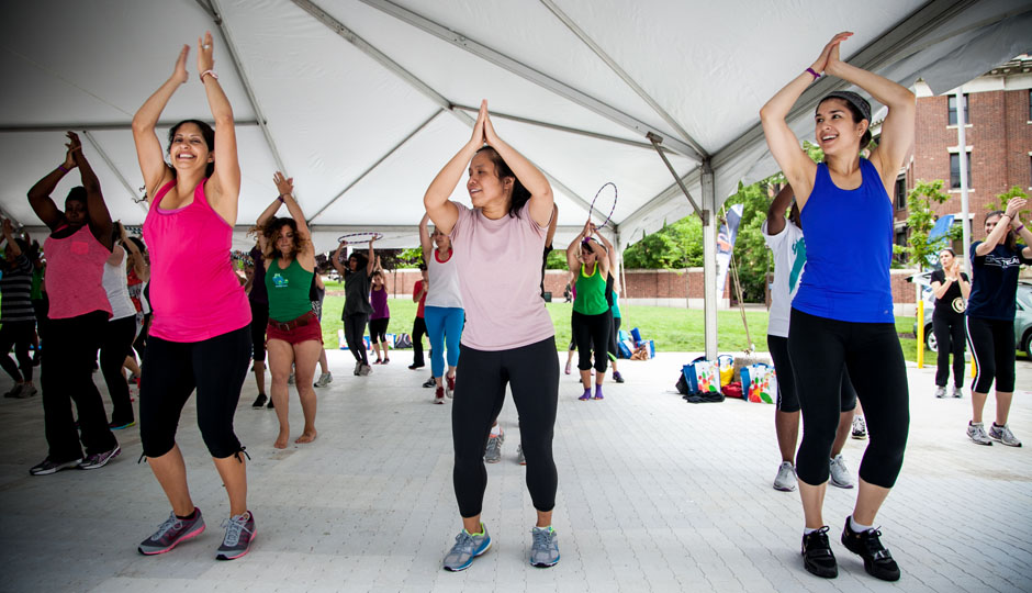 Ladies danced it up at last year's Be Well Philly Boot Camp! | Photo by JPG Photography