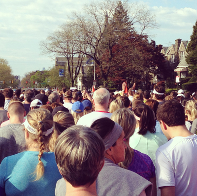 Ashley's view from the starting line.