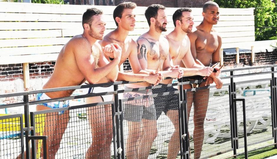 Hot male speedo swimmers