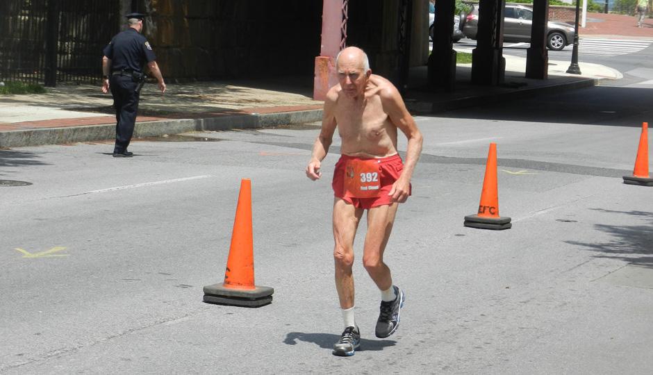 John Schultz at the Delaware Marathon this past Sunday // Photo by Mark DeNio