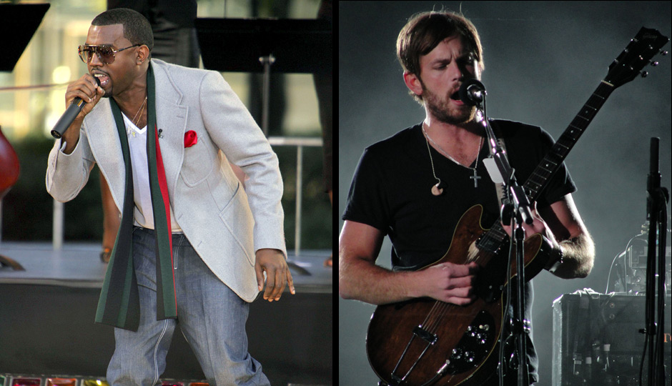 Kanye West and Kings of Leon's Nathan Followill. Photos   Shutterstock.com