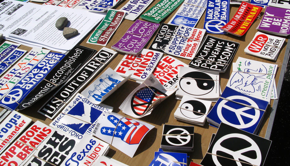 shutterstock_peace-sign-political-bumper-stickers