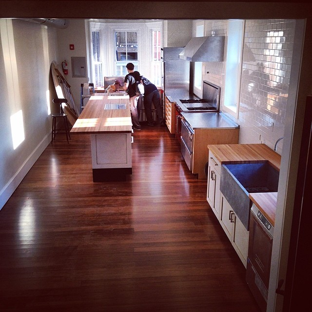Upstairs kitchen at Vetri | Via Marc Vetri's Instagram