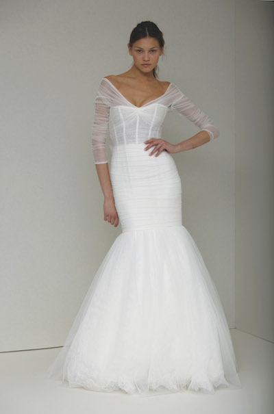 Monique Lhuillier's Addie, as worn by the character Robin Sherbatsky on her How I Met Your Mother wedding day.